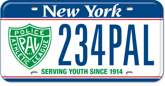 Police Athletic League custom plate