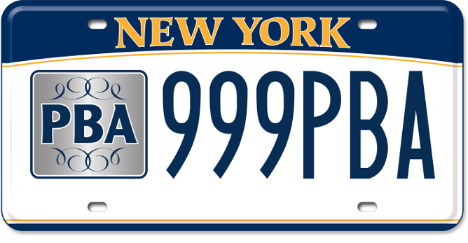 Police Benevolent Association custom plate