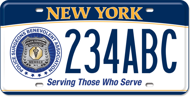 Police Surgeon's Benevolent Association custom plate