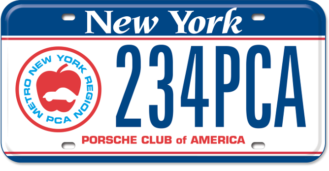 Porsche Club of America custom plate
