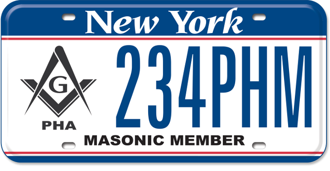 Prince Hall Masons custom plate