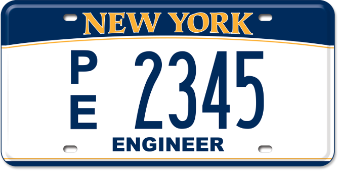 Professional Engineer custom plate
