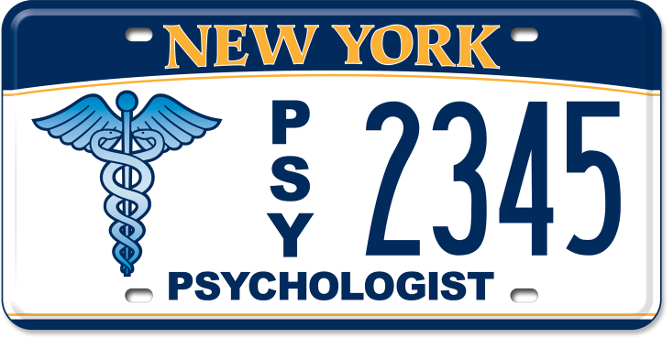Psychologist custom plate