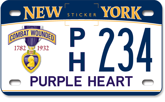 Purple Heart motorcycle custom plate