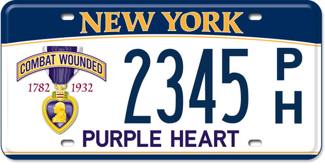 Purple Heart passenger custom plate