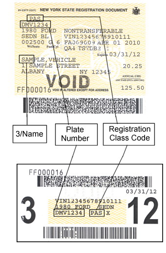 New York Dmv Sample Registration Documents