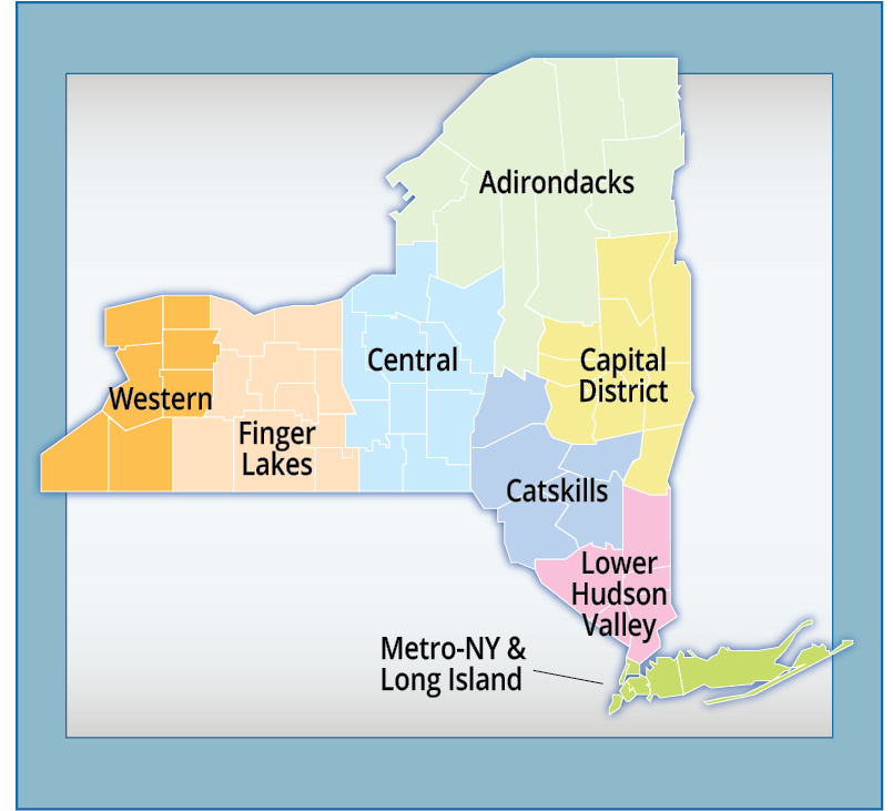 Road Test Sites By Region New York State Of Opportunity: Map Of Lower New York State At Codeve.org