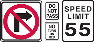 regulation signs
