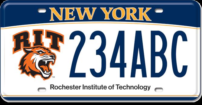 Rochester Polytechnic Institute Custom Plate