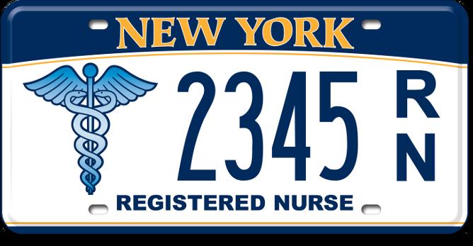 Registered Nurse custom plate