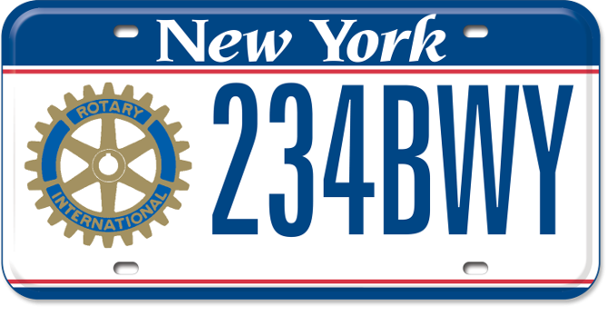 Rotary International custom plate