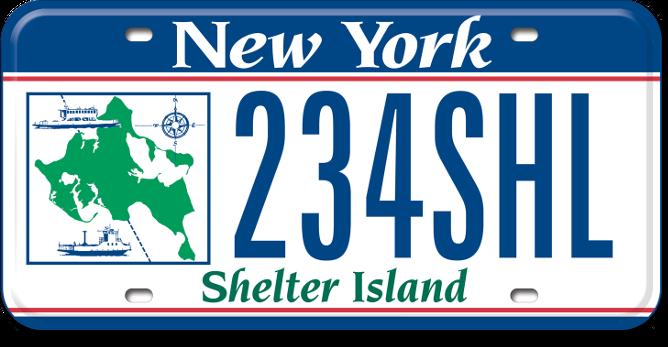 Shelter Island custom plate