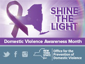 Shine the Light! Domestic Violence Awareness Month. October 2016