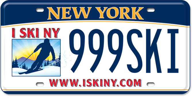 Ski Areas of New York State custom plate