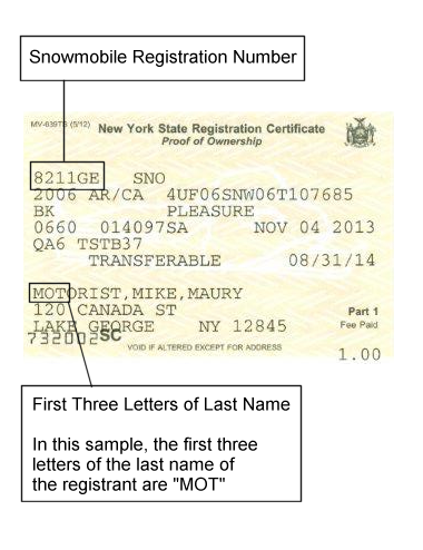 Sample Registration Documents New York State Dmv