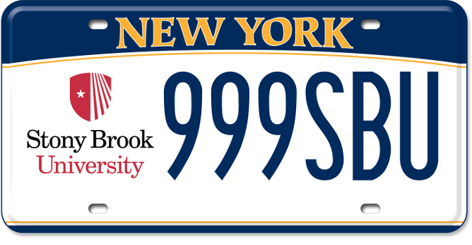 Stony Brook custom plate