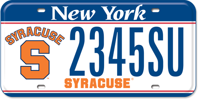 Syracuse University custom plate