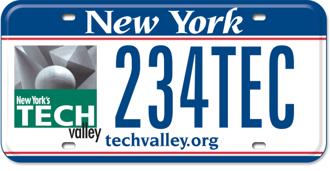 Tech Valley custom plate