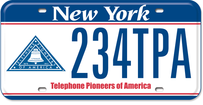 Telephone Pioneers of America custom plate