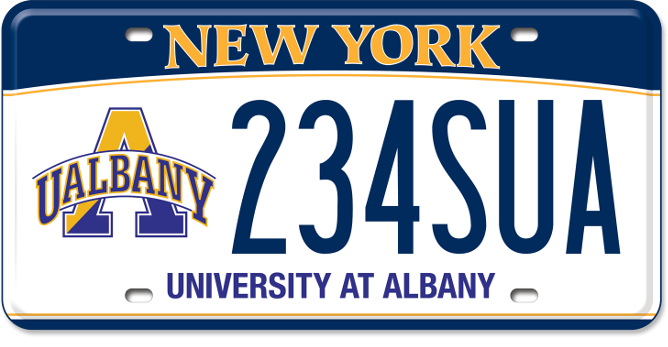 University at Albany custom plate