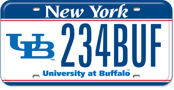 University at Buffalo custom plate
