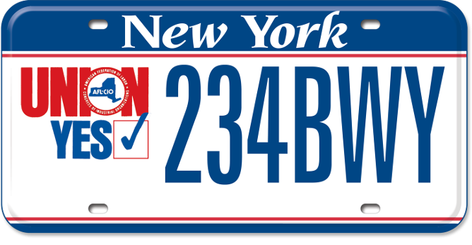 Union Yes custom plate