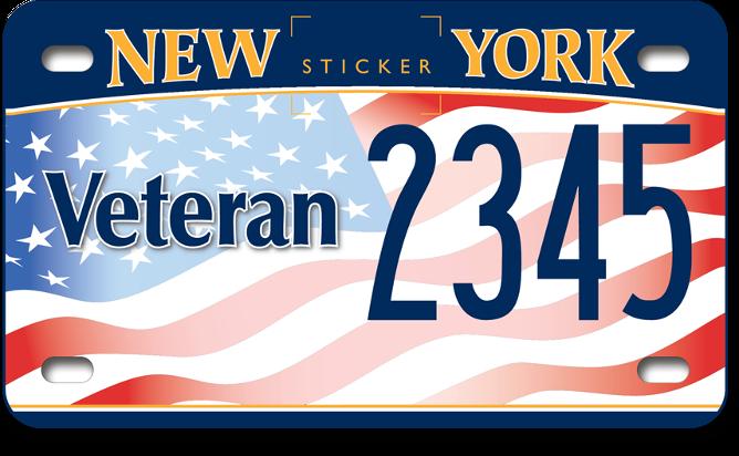 US Veteran motorcycle custom plate