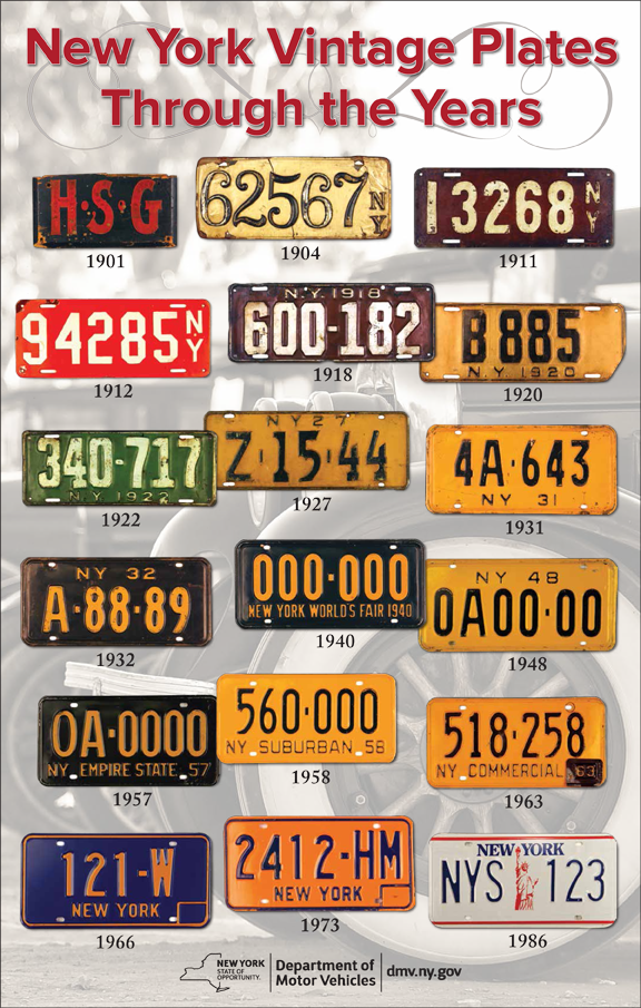New york vintage plates new york state dmv for New york state department of motor vehicles bronx ny