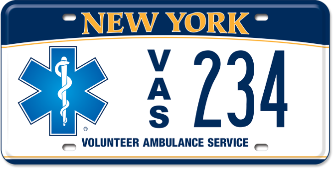 Volunteer Ambulance Service custom plate