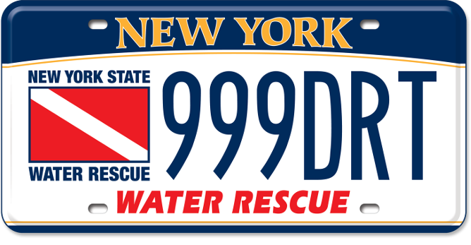 Water Rescue Team custom plate